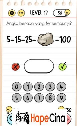 kunci jawaban brain test level 17