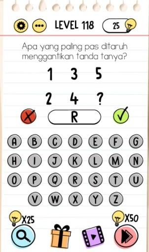 jawaban brain test level 118
