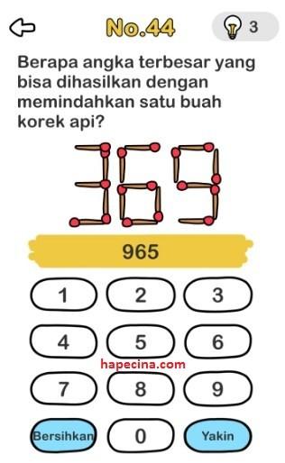 kunci jawaban brain out level 44