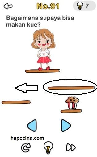 Jawaban Brain Out Level 91 Bagaimana Supaya Bisa Makan Kue Gambar
