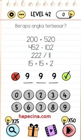 Jawaban Brain Test Level 42
